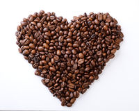 Coffee heart Royalty Free Stock Image