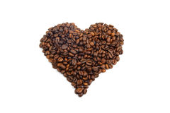 Coffee heart. Isolated on white background Stock Photo