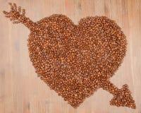 Coffee heart Stock Photo