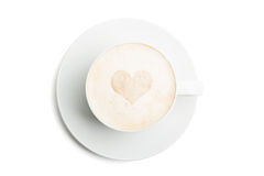 Coffee with heart Stock Photo