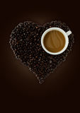 Coffee Heart. Coffee is heart for background Stock Image