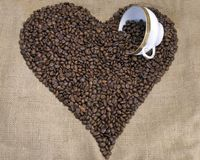 Coffee heart Royalty Free Stock Photo