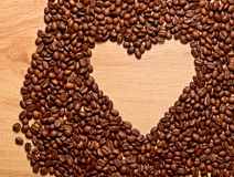 Coffee heart Stock Photo