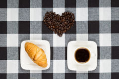 Coffee heart Stock Image
