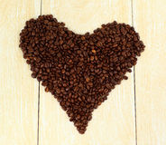 Coffee heart of flame of love Royalty Free Stock Images