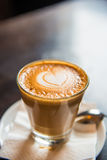 Coffee with Heart in Foam Stock Image