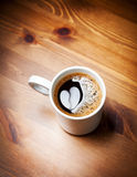 Coffee with heart image Royalty Free Stock Photo