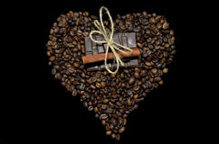 Coffee heart stock photos