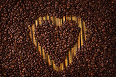 Coffee Heart Shape Stock Photography