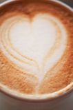 Coffee heart shape Stock Images