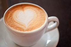 Coffee heart shape Royalty Free Stock Images