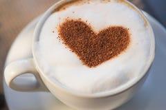 Coffee heart shape Stock Photo