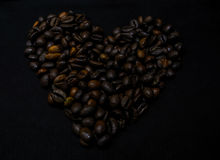 Coffee heart. Small still life coffee been looks like heart Royalty Free Stock Image