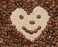 Coffee heart smile Royalty Free Stock Image