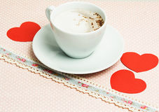 Coffee and heart.Valentine's Day still life Stock Image