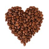 Coffee heart on white background Stock Photo