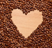 Coffee heart Stock Images