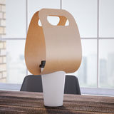 Coffee Holder with cup on the office table. 3d rendering Royalty Free Stock Photography