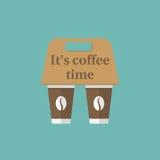 Coffee holder. To go break time Royalty Free Stock Photo