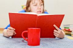 Coffee home reading Royalty Free Stock Image