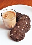 Coffee with homemade cookies Royalty Free Stock Photos