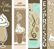 Coffee and Hot Chocolate banners Stock Images