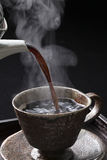 Coffee, hot coffee, pour Royalty Free Stock Images