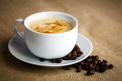 Coffee. A hot cup of coffee to wake up royalty free stock photography