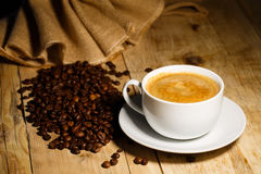 Coffee. A hot cup of coffee to wake up royalty free stock image