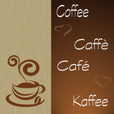 Coffee hour. Banner for the bar or cover with coffee cup Royalty Free Stock Photos