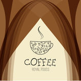 Coffee house background design template Royalty Free Stock Photos
