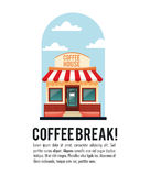 Coffee house break shop store icon.Vector graphic Royalty Free Stock Image