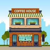 Coffee House Building Royalty Free Stock Photo