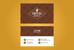 Coffee House Business Card Design Royalty Free Stock Photo