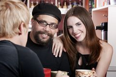 Coffee House Conversation Royalty Free Stock Photos