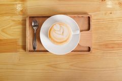 Coffee house counter background with coffe cup Royalty Free Stock Photo