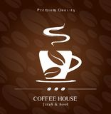 Coffee House cover. Restaurant menu Royalty Free Stock Images