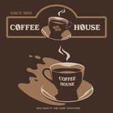 Coffee House design with cup and saucer Royalty Free Stock Image