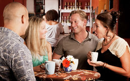 Coffee House Friends Royalty Free Stock Image
