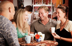 Coffee House Friends Royalty Free Stock Photography