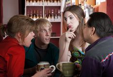 Coffee House Friends royalty free stock photo