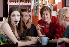 Coffee House Friends Stock Photo
