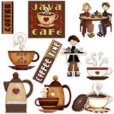 Coffee House Graphics Stock Photography