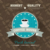 Coffee house  illustration in flat design. Royalty Free Stock Photos