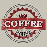 Coffee house label Stock Photography