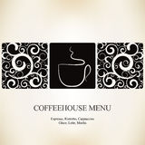 Coffee house menu Royalty Free Stock Photo