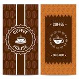 Coffee House Menu Card design. Royalty Free Stock Image