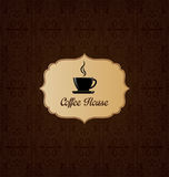 Coffee house menu cover Stock Photography