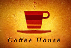 Coffee house menu cover Stock Photos