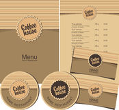 Coffee house menu Stock Photos